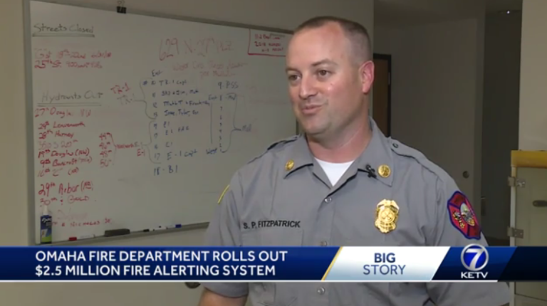 Batallion Chief Scott Fitzpatrick talks about no more pop can alarms at Omaha Fire Department