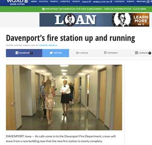 Davenport, Iowa fire station up and running