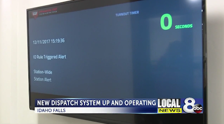 HDTV Remote - Phoenix G2 Idaho Falls automated dispatch system