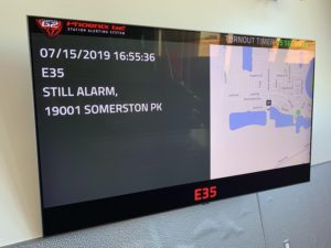 USDD's Phoenix G2 station monitoring display at the Lathrop Fire Station